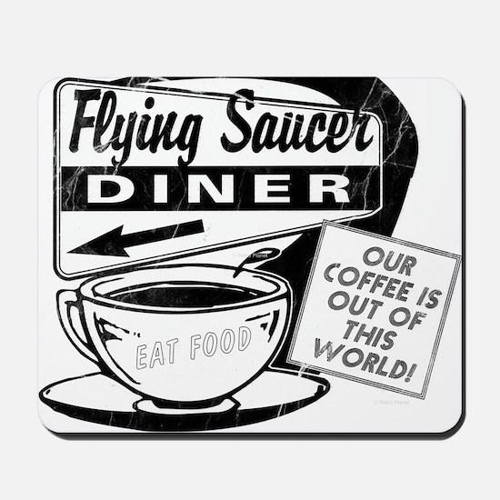 Flying Saucer Diner Mousepad