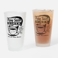 Flying Saucer Diner Drinking Glass