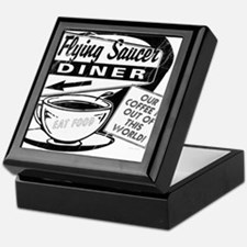 Flying Saucer Diner Keepsake Box