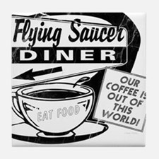 Flying Saucer Diner Tile Coaster