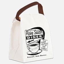 Flying Saucer Diner Canvas Lunch Bag
