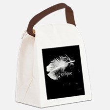 1212 eclipse feather copy Canvas Lunch Bag
