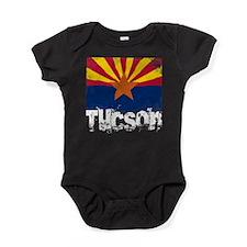 Tucson Grunge Flag Baby Bodysuit