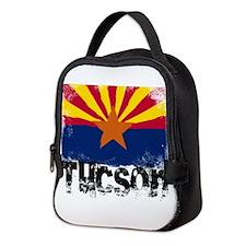 Tucson Grunge Flag Neoprene Lunch Bag