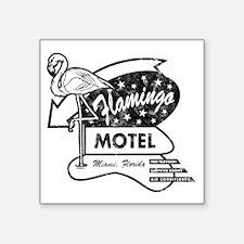 """Flamingo Motel Square Sticker 3"""" x 3"""""""