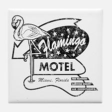 Flamingo Motel Tile Coaster