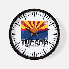 Tucson Grunge Flag Wall Clock