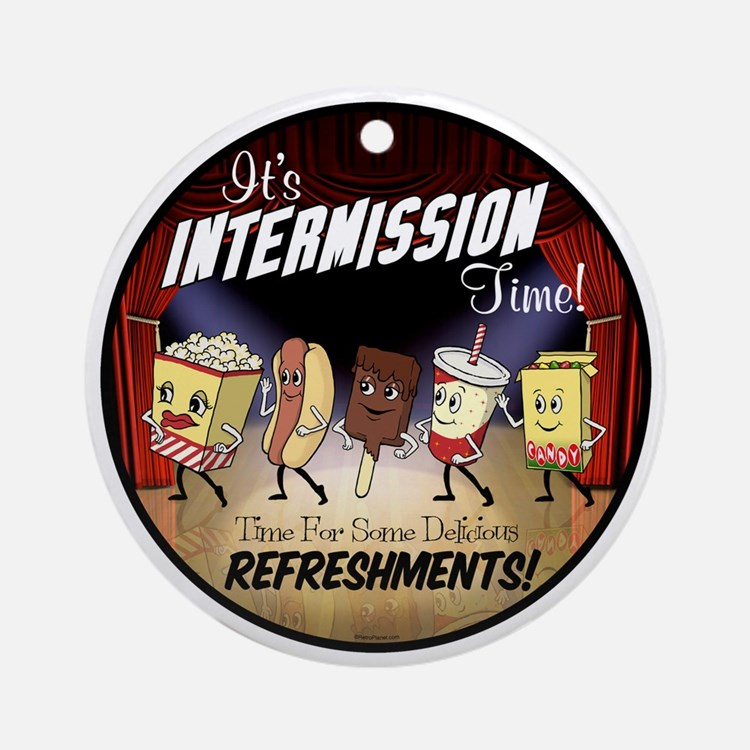 Intermission Time Round Ornament