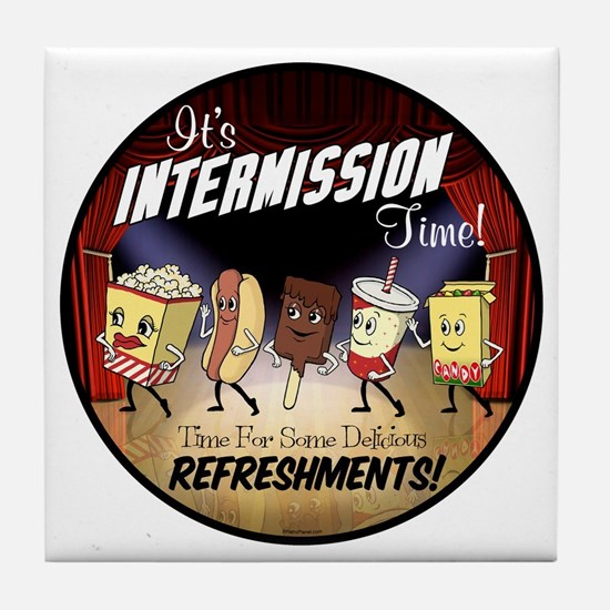 Intermission Time Tile Coaster
