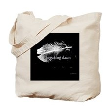 1212 breaking dawn feather copy Tote Bag