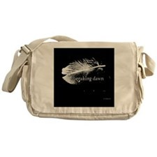 1212 breaking dawn feather copy Messenger Bag