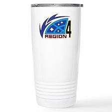 R4 Logo - transparent for white Travel Mug