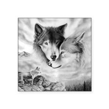 "wolfmates Square Sticker 3"" x 3"""