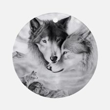 wolfmates Round Ornament
