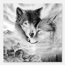 """wolfmates Square Car Magnet 3"""" x 3"""""""