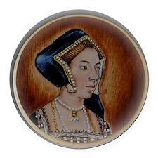 Anne Boleyn Round Car Magnet