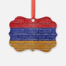flag_grunge_wall_armenia Ornament