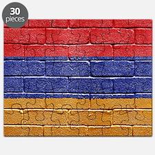 flag_grunge_wall_armenia Puzzle