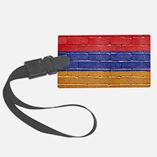 flag_grunge_wall_armenia Luggage Tag