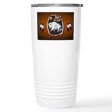 purse Whie Buffal brown Travel Mug