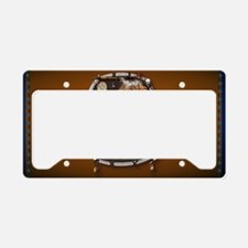 purse Whie Buffal brown License Plate Holder
