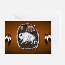 purse Whie Buffal brown Greeting Card