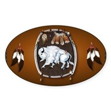 purse Whie Buffal brown Decal