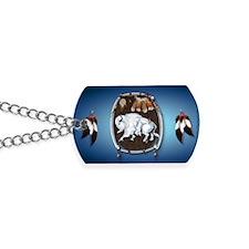 purse Whie Buffal blue Dog Tags