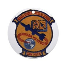 Naval Guided Missiles School Patch Round Ornament