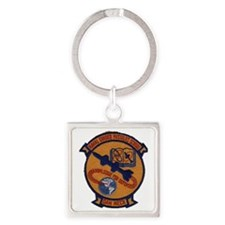 Naval Guided Missiles School Patch Square Keychain