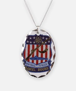 Daniel Boone Patch Necklace Oval Charm