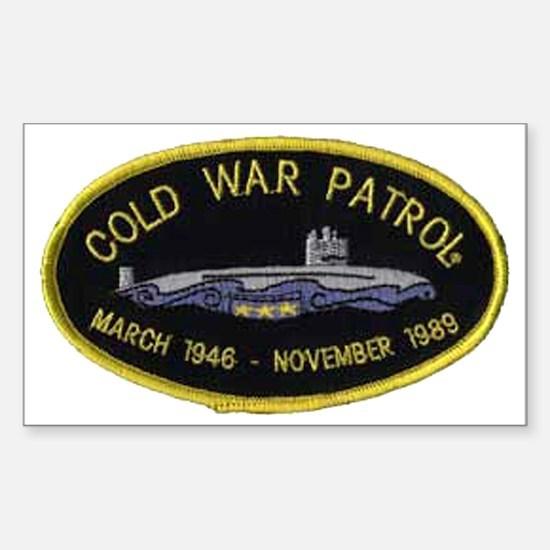 Cold War Patrol Patch Sticker (Rectangle)