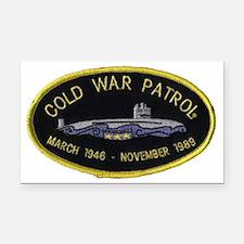 Cold War Patrol Patch Rectangle Car Magnet