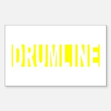 Drumline Marching Band Section Sticker (Rectangula