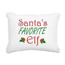 Santas Favorite Elf Rectangular Canvas Pillow