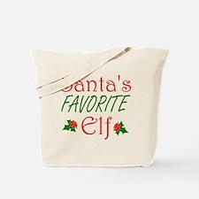 Santas Favorite Elf Tote Bag