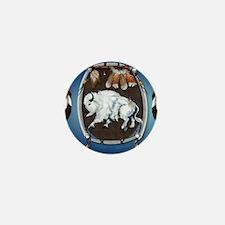 CalenderWhite Buffalo Shield 2blue Mini Button