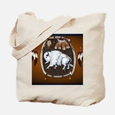 CalenderWhite Buffalo Shield 2brown Tote Bag