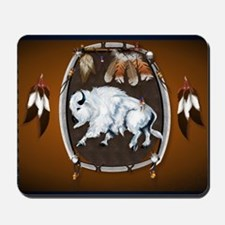 CalenderWhite Buffalo Shield 2brown Mousepad