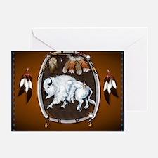 CalenderWhite Buffalo Shield 2brown Greeting Card