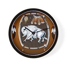CalenderWhite Buffalo Shield 2brown Wall Clock