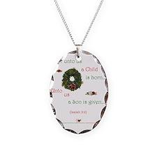 UntoUsAChild1b Necklace Oval Charm