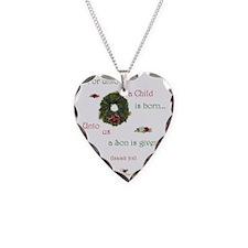 UntoUsAChild1b Necklace Heart Charm