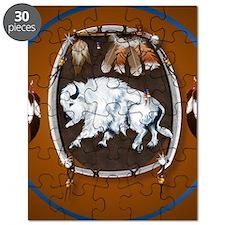 circle White Buffalo Sheild-brown2 Puzzle