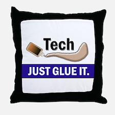 Just Glue It. Throw Pillow