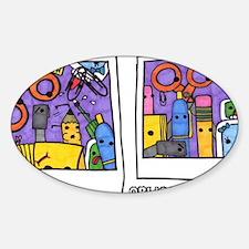polaroids Sticker (Oval)