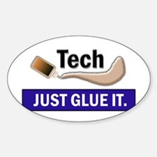 Just Glue It. Oval Decal