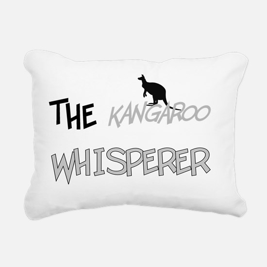 The Kangaroo Whisperer Rectangular Canvas Pillow