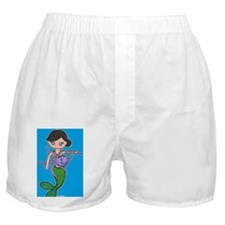 mermaid cover color blue Boxer Shorts