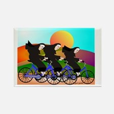Nuns on Bikes FINAL Rectangle Magnet